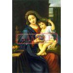 イタリア製 ポストカード 「ぶどうの聖母子」