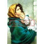 イタリア製 ポストカード 「街のマドンナ」