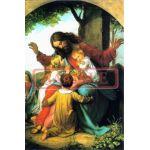 イタリア製 ポストカード 「キリストと子供たち」