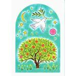 久住友里 ポストカード 「創世記から宇宙、園の木、鳩とオリーブ」
