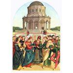 イタリア製 ポストカード 「マリアの結婚」