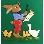 すず製オーナメント/ウサギとアヒルたちのコンサート 12643