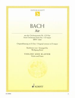 Bach,J.S., Air, from the Orchestral Suite/Ouverture No. 3 BWV 1068 <ヴァイオリン>