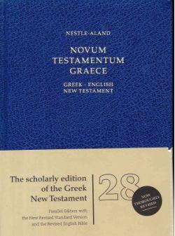 NESTLE-ALAND NOVUM TESTAMENTUM GRAECE GREEK-ENGLISH NEW TESTAMENT 28th Revised Edition