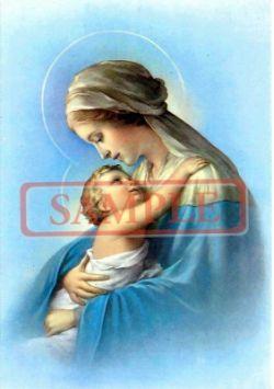 イタリア製 ポストカード 「聖母子」